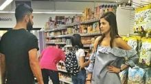 PIC: Anushka's angry yet cute expression for Virat during grocery shopping turns into new epic meme