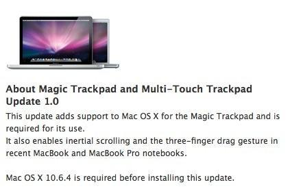 Apple issues Magic Trackpad drivers for OS X and Windows, updates MacBooks with new gesture support
