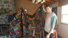 Quilted with love: Dying mother has son's quilt made with help from many hands