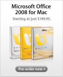 Office 2008 now available for pre-order
