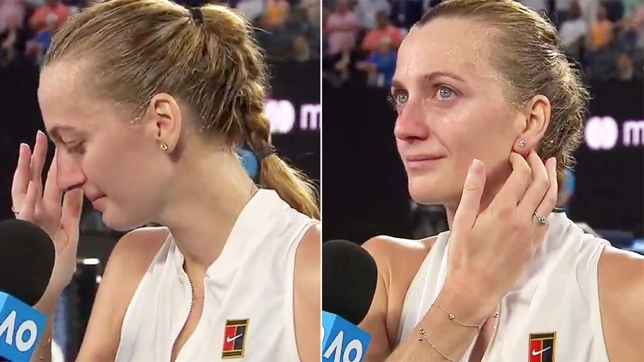 The horrifying ordeal that brought Kvitova to tears after beating Barty
