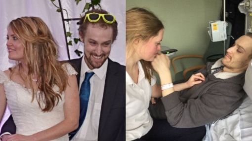 Newlyweds Celebrate After Experimental Treatment Leaves No Sign of Husband's Leukemia