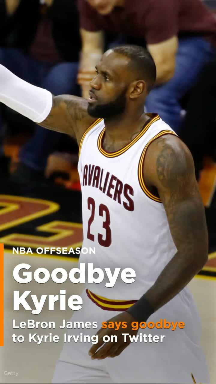 LeBron James says goodbye to Kyrie Irving on Twitter [Video]