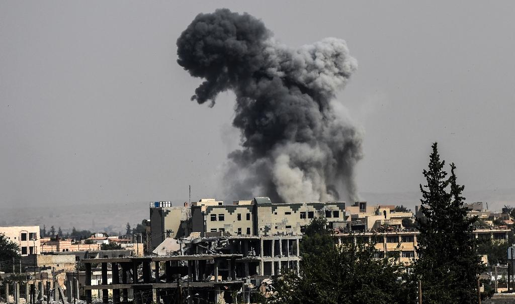 In its air campaign, the US and partner nations have spent years pounding IS targets (AFP Photo/BULENT KILIC)