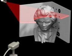 DAVID software turns your webcam into a 3D laser scanner