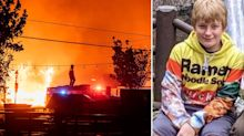 Boy's body found alongside dog in wildfire tragedy