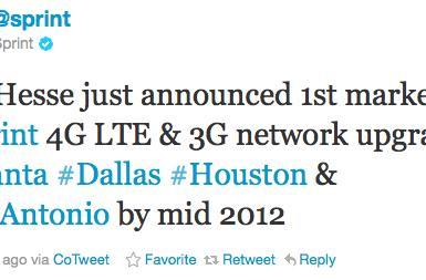 Sprint encroaches on AT&T markets for first LTE upgrades: Atlanta, Dallas, Houston and San Antonio