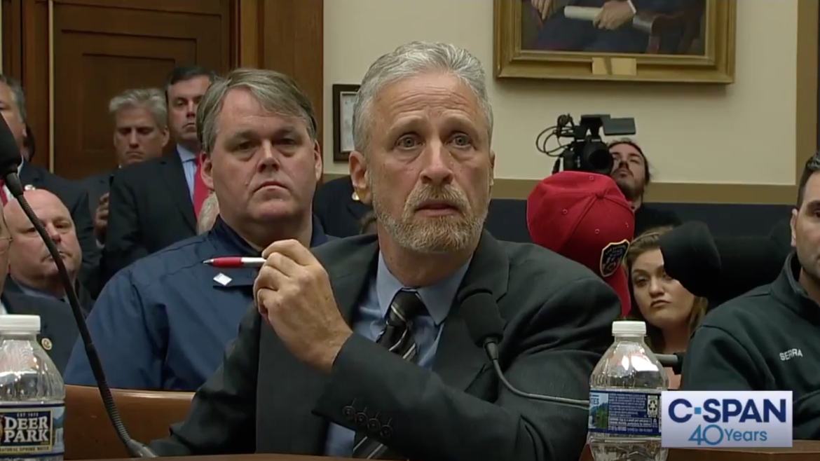 Jon Stewart Rips Congress During House Hearing on 9/11 Victims Fund, Gets Standing Ovation