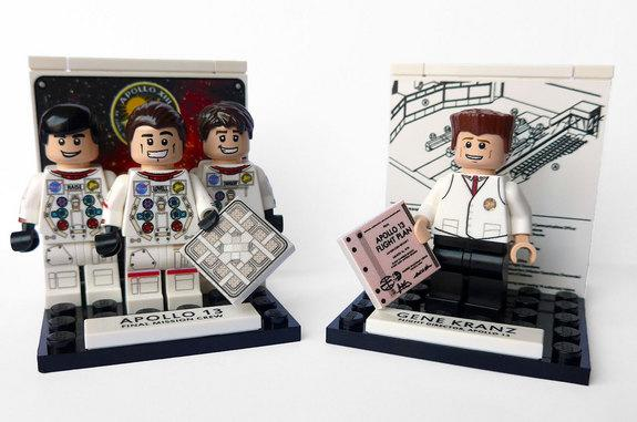 Apollo 13 Custom LEGO Minifigures Mark Mission's 45th
