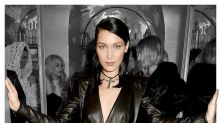 Bella Hadid Had a Major Wardrobe Malfunction in a Leather Dress