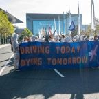 Thousands of climate change activists block entrance to Frankfurt auto show