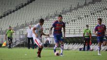 Tiago Orobó celebra primeiro gol com a camisa do Fortaleza