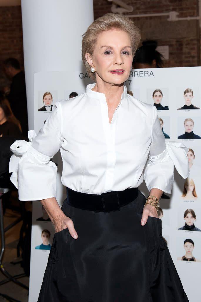 f4562249d5a5f Carolina Herrera attends the Carolina Herrera Collection fashion show  during New York Fashion Week on February