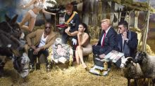 Strangest Nativity Scene Ever Features Look-Alikes of Kim and Kanye, Donald Trump, and Others