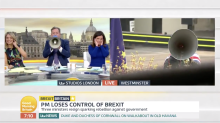 Piers Morgan gets revenge on anti-Brexit protestor by shouting at him with a megaphone
