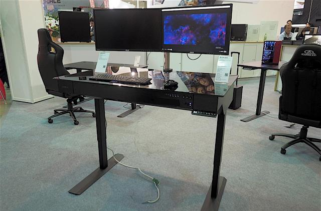 A combination standing desk / PC is the ultimate all-in-one