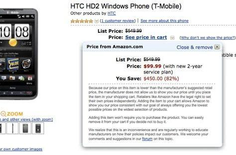 T-Mobile HD2 can be had for $100 from Amazon, others