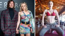 Diane Kruger shows off abs four months after giving birth at 42
