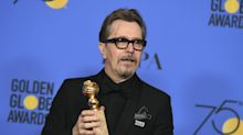 Male Golden Globe winners fail to mention harassment scandal in their speeches
