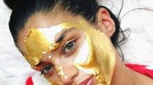 The Victoria's Secret Models Are Prepping For The Show With A 24K Gold Face Mask