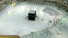 Emptier than usual Eid al-Fitr prayers in Mecca