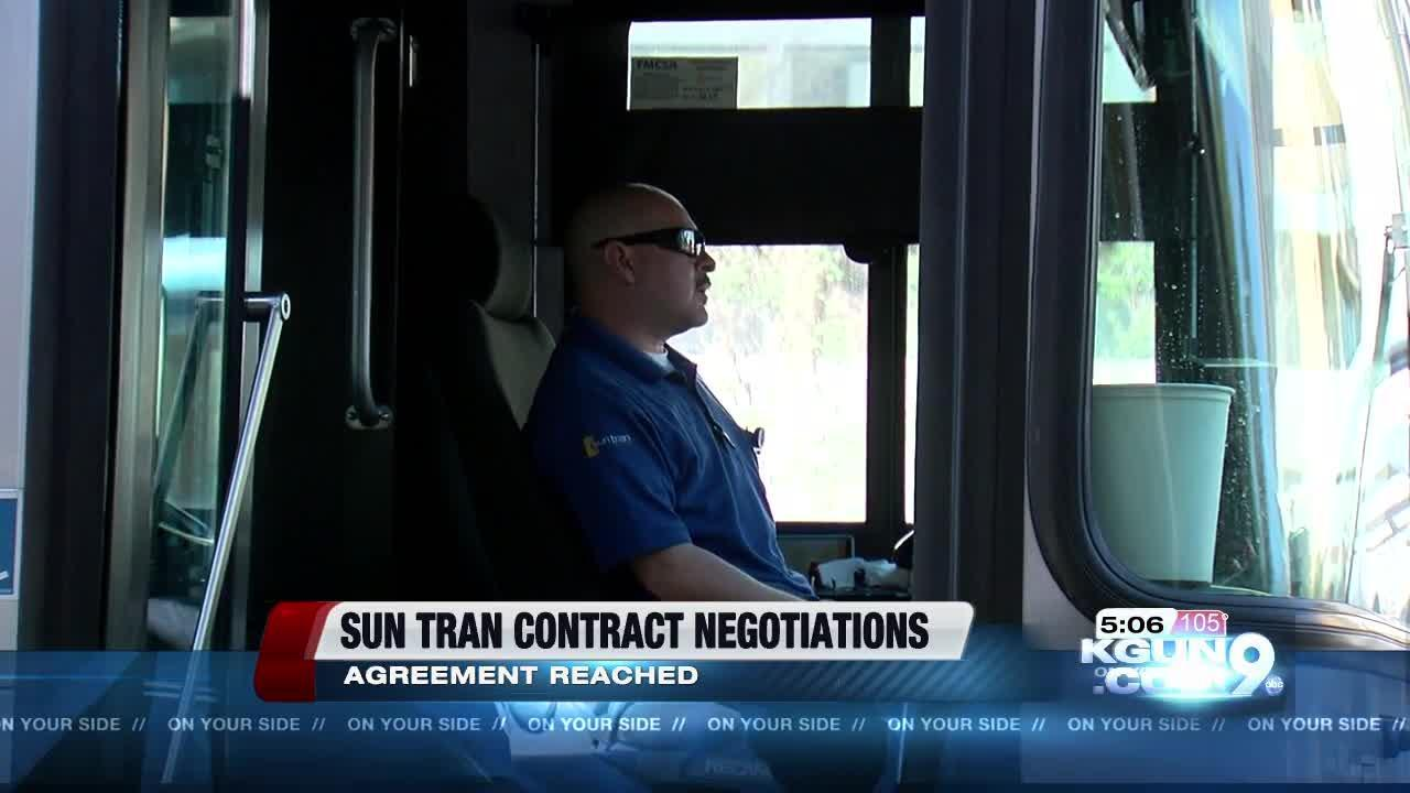 Sun Tran and Teamsters develop tentative labor agreement