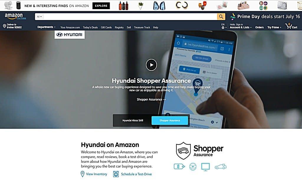你會在網路上買車嗎?現代成為首家在Amazon開設網路商店的車廠