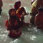 Hindus take dip in the Ganges for Indian festival