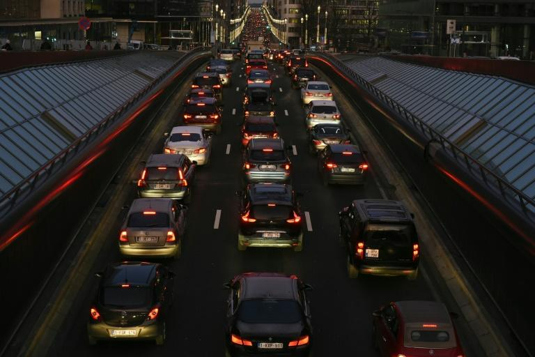 From 2021, any car that escapes the gridlock in Brussels will still be limited to only 30 kilometres per hour - less than 19 mph (AFP Photo/JOHN THYS)