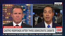 Chris Cuomo repeatedly presses Julián Castro over Joe Biden 'cheap shot'