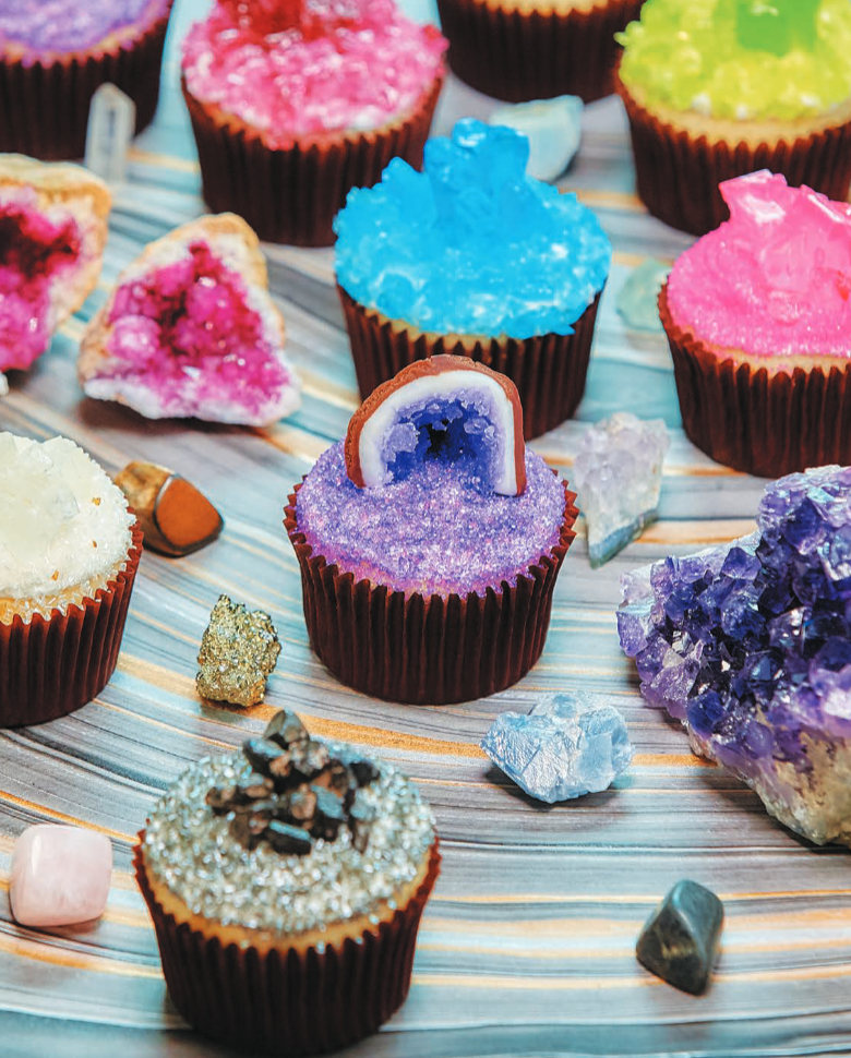 Cake Of The Day Geode Candy Cupcakes From Nerdy Nummies