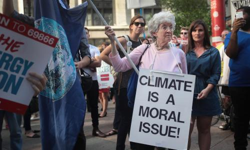 Climate crisis more politically polarizing than abortion for US voters, study finds