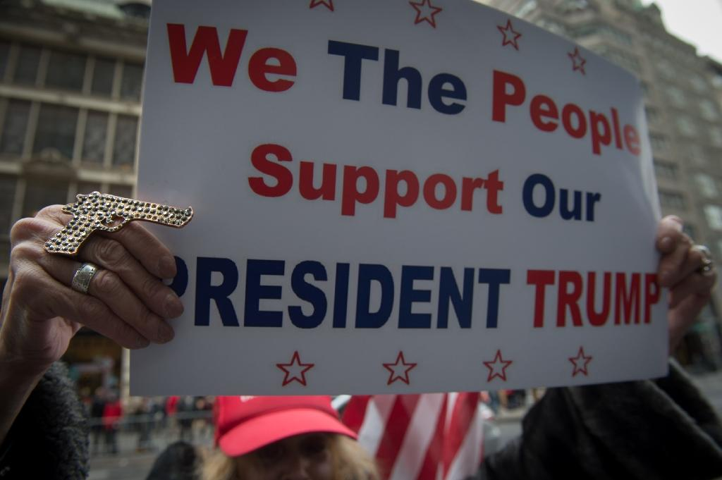 US President Donald Trump's New York supporters were uncowed (AFP Photo/Bryan R. Smith)