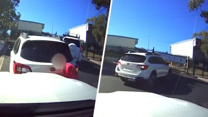 Woman's act after crash causes fury