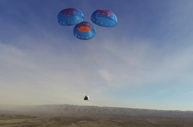Blue Origin's upgraded New Shepard vehicle completes its first flight