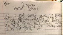 """""""No marcha bien"""": la hilarante reflexión de un niño sobre los intentos de su madre de hacer de maestra"""