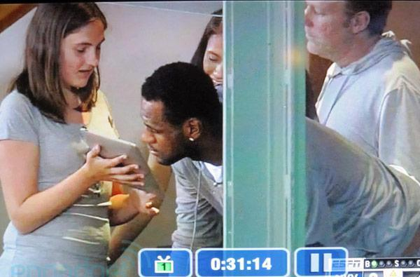 Screen Grabs: LeBron James overlooks iPad at MLB season opener