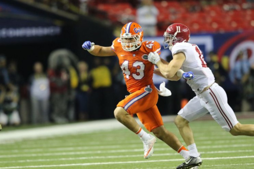 Cristian Garcia played in all 13 games for the Gators last season. (Courtesy of UF)