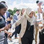 Crowds cheer Rep. Ilhan Omar's arrival at hometown airport
