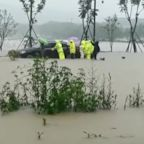 Typhoon In-Fa Makes Landfall Southeast of Shanghai