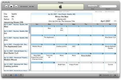 iConcertCal updates with iCal exporting, better listings and more