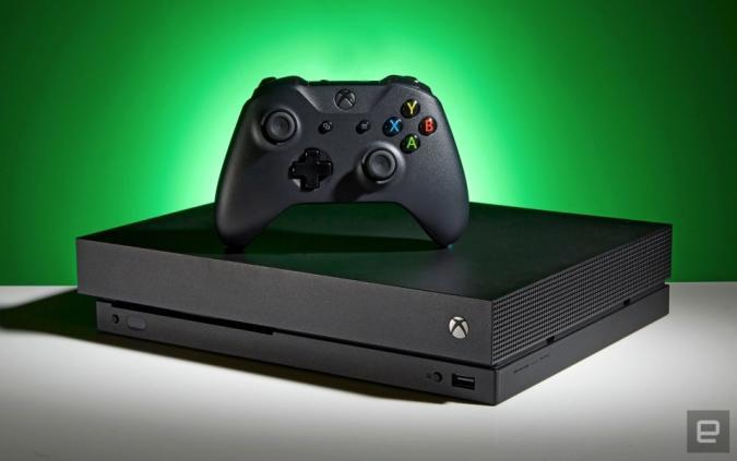 An Xbox console.
