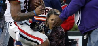 Woman knocked out during football game