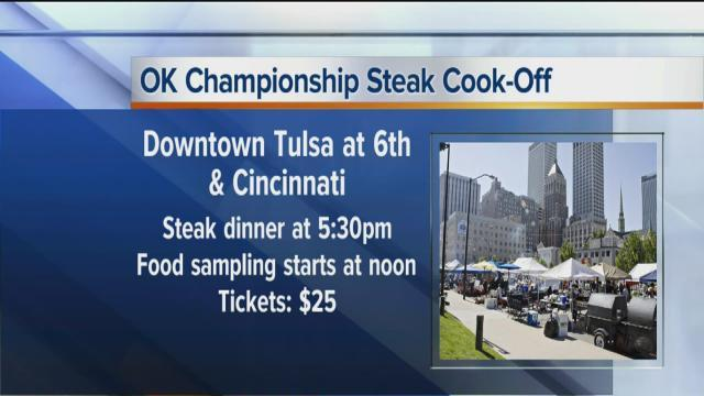 2013 Oklahoma Championship Steak Cook-off in downtown Tulsa to raise money for local charities