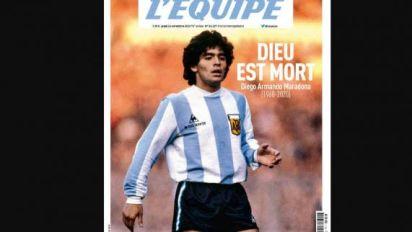 Foot - Maradona - Découvrez la une de L'Equipe en hommage à Maradona