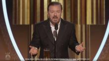Ricky Gervais ataca a Hollywood en su monólogo de los Globos de Oro
