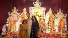 In Pics: Sushmita Sen Celebrates Durga Puja With Her Daughters