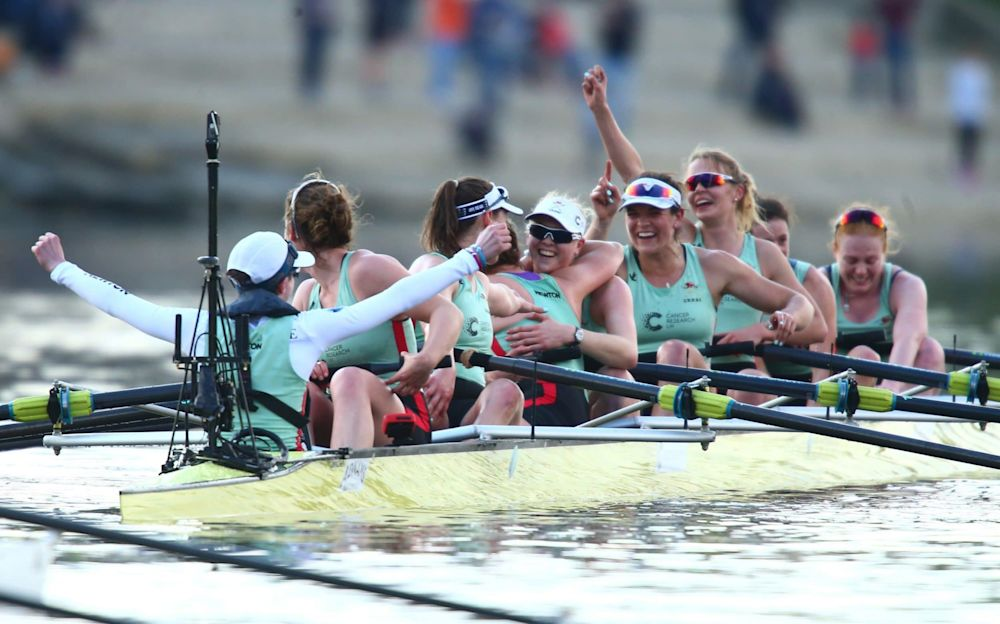 Cambridge women celebrate victory - Getty Images Europe