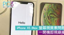 iPhone XS Max OLED 螢幕現質素問題 一開機即現「綠線」