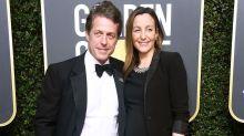 Hugh Grant Weds Anna Eberstein in London